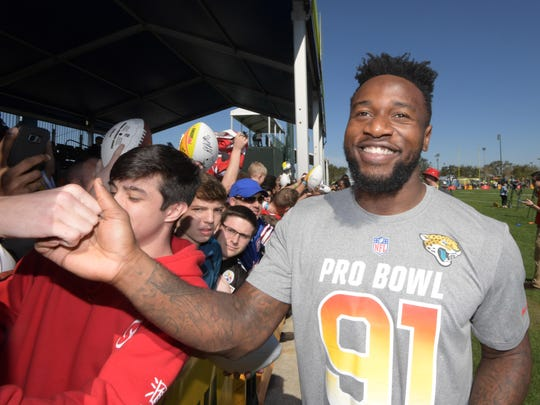 Jacksonville's Yannick Ngakoue was added to the AFC