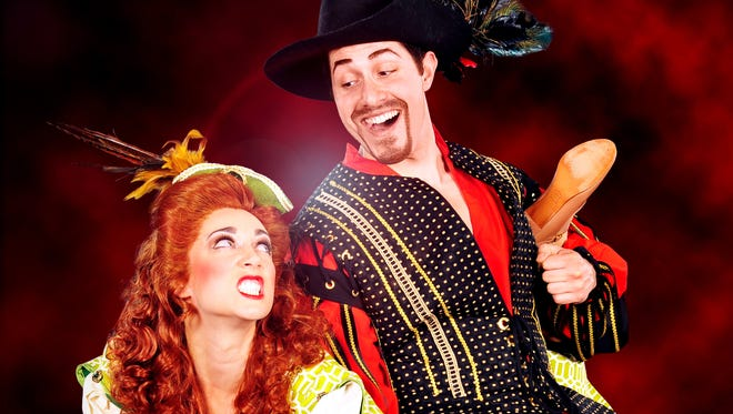 """Renee Koher as Lilli Vanessi and David Sattler as Fred Graham star in the Arizona Broadway Theatre production of """"Kiss Me, Kate."""""""