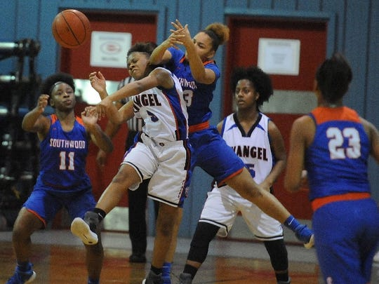 The Southwood and Evangel girls battled hard Tuesday night in District 1-5A action.