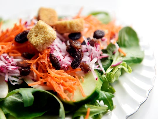 The tossed salad at Coffee, Teas, and Thee is shown