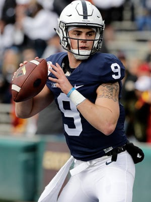 Quarterback Trace McSorley will likely leave Penn State with most of the school's passing records. AP FILE PHOTO