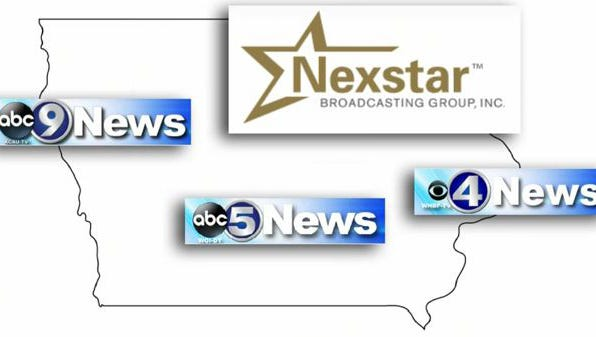 Nexstar Broadcasting Group Inc. announced Monday, Sept. 16, 2013, that it was buying Citadel Communications' three television stations in Iowa for $88 million.