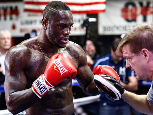 DEONTAY WILDER-MEDIA WORKOUT-01122015-7705