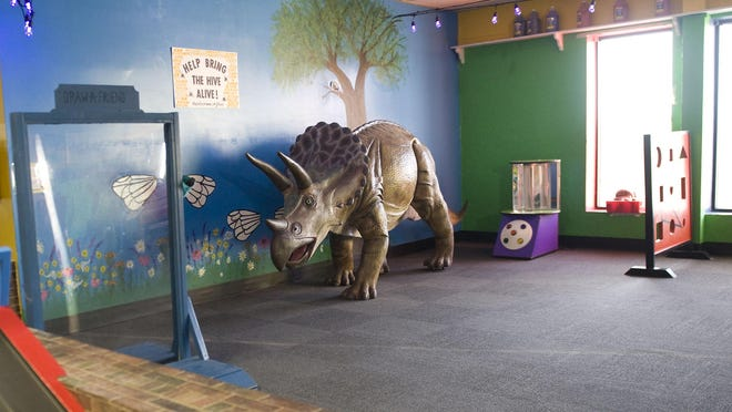 As Hands On! Children's Museum reopens Friday following a six-month mandated closure, the museum's popular Terry the Triceratops has been moved into the museum's East wing, as one of the many changes and renovations to the museum.