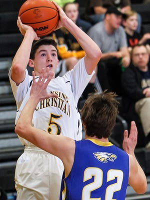 Matt Havey is off to a torrid start for Lansing Christian and recently had a 40-point game