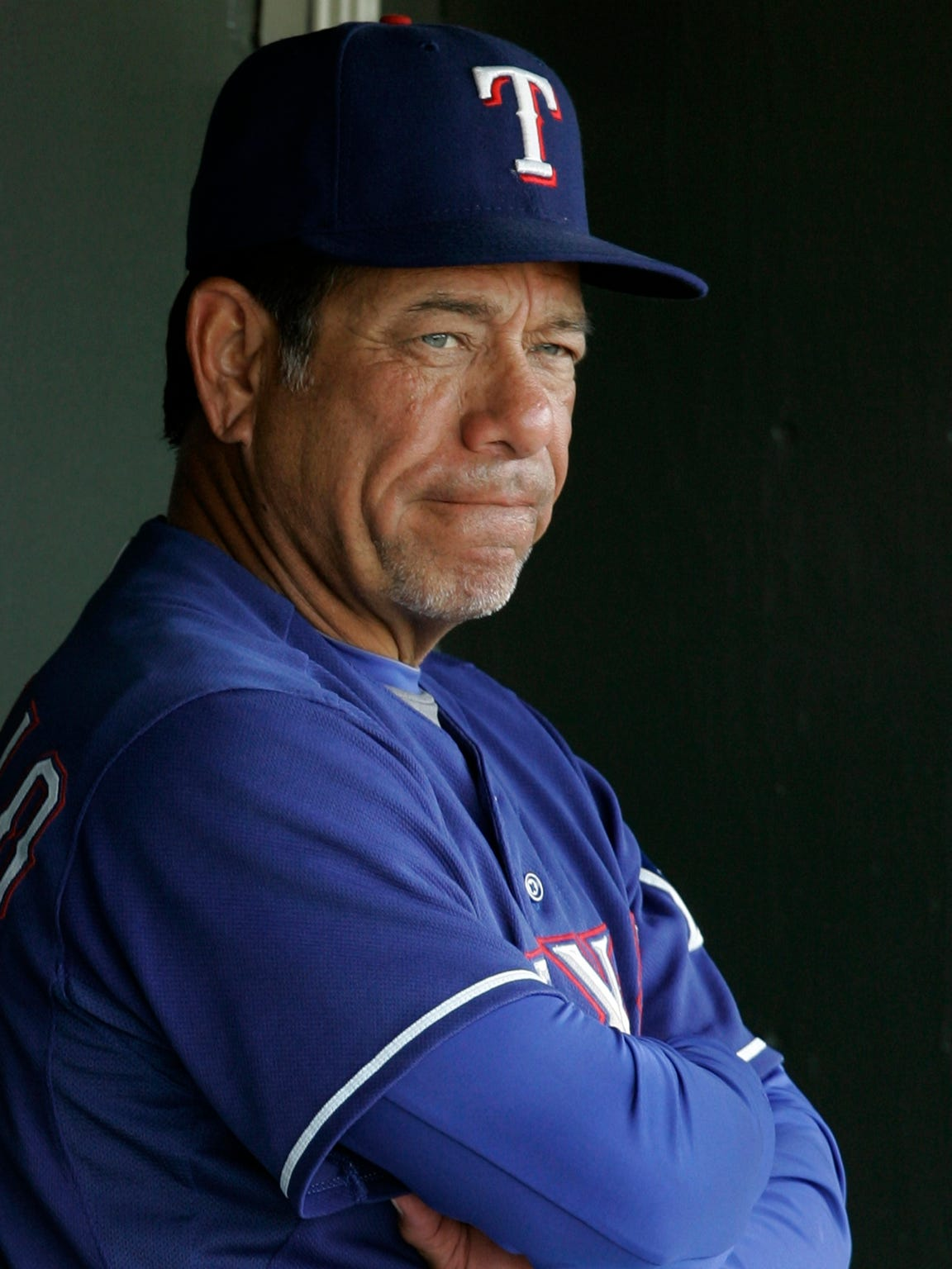 Texas Rangers batting coach Rudy Jaramillo before the