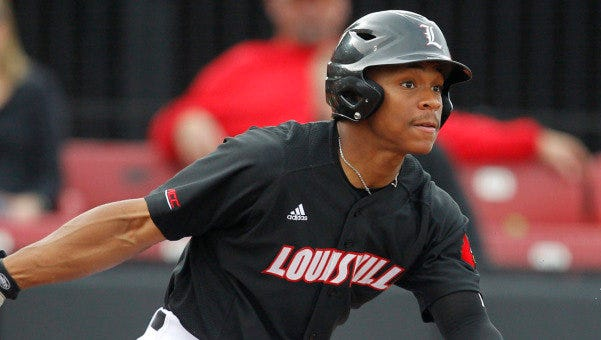 Corey Ray has 15 stolen bases for Louisville this season.