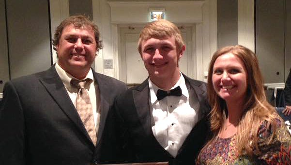 Daniel Gupton from Cheatham County Central High School and his parents.