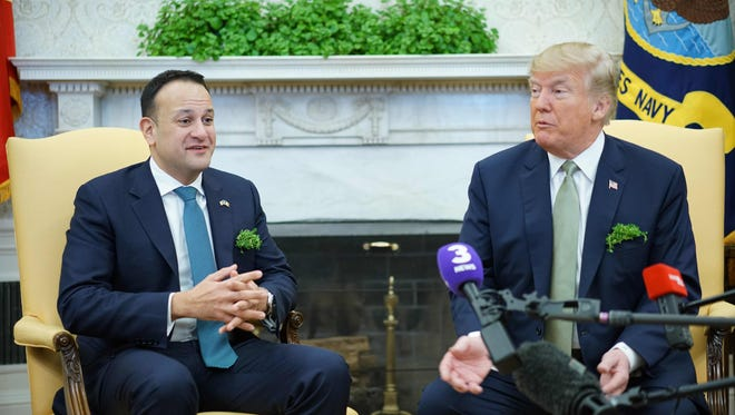 President Trump and Ireland Prime Minister Leo Varadkar.