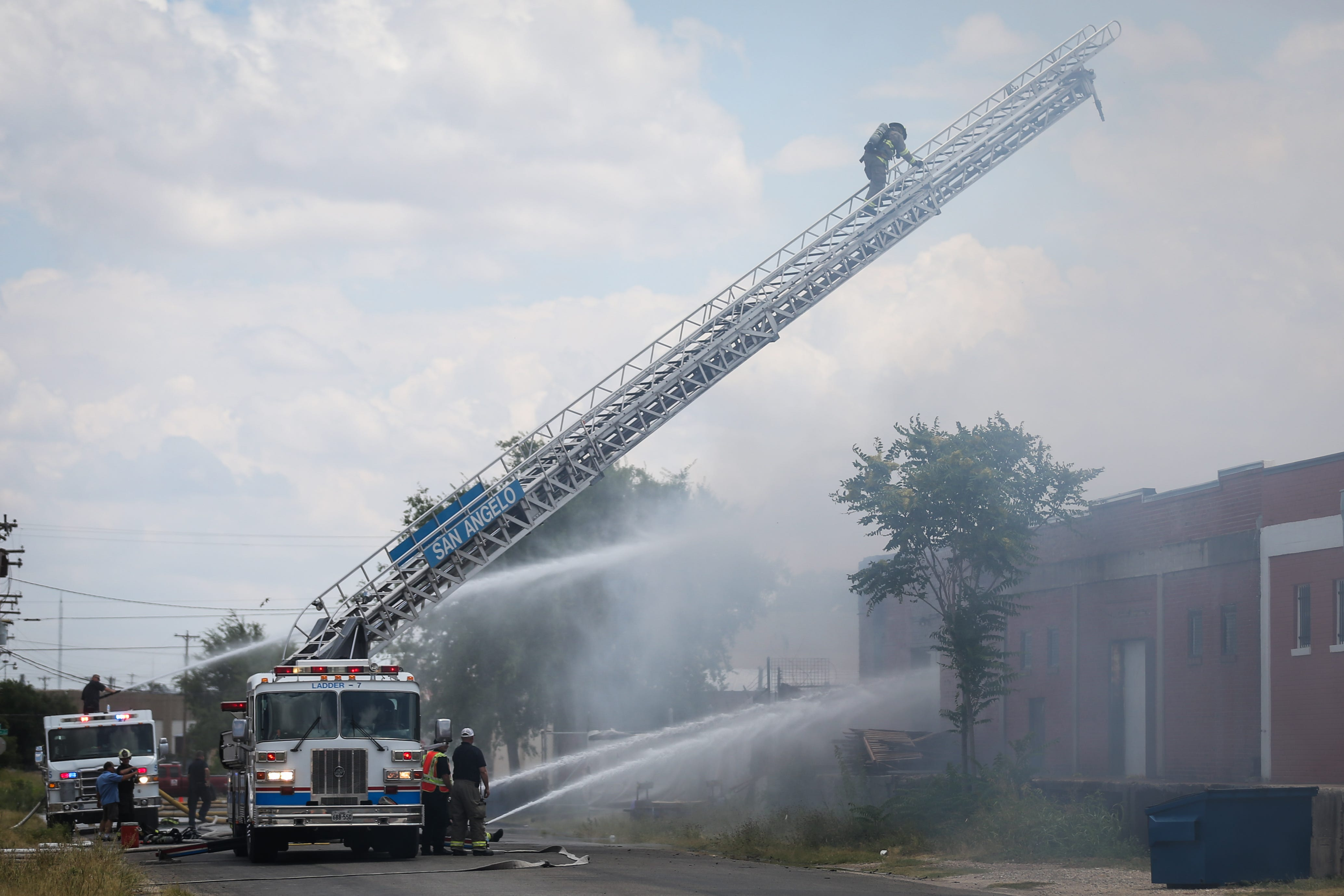 San Angelo Firefighters Battle A Warehouse Fire Saturday,