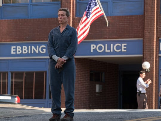"Frances McDormand stars as a grieving mother who's had enough with police incompetence in the dark comedy ""Three Billboards Outside Ebbing, Missouri."""