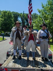 Coren's Independent Artillery await their turn in line to parade at the Annual Randolph Kiwanis Freedom Festival Parade in Randolph, June 30, 2018.  Photo by Warren Westura for the Daily Record.