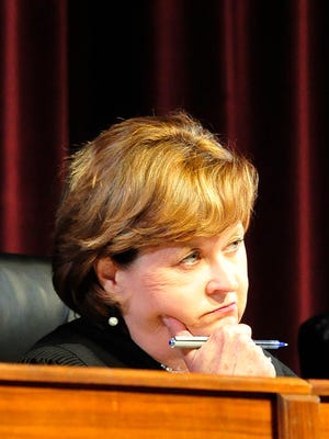 Judge Sharon G. Lee listens as The Tennessee Supreme Court hears The Tennessean's and other media outlets case seeking release of third party records in the Vanderbilt rape trial.