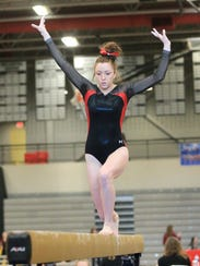 One of Livonia Red's top performers Saturday was Mikaela