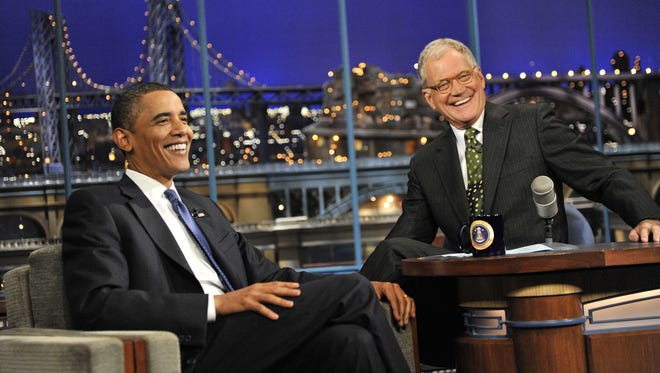 President Obama and David Letterman in 2009.