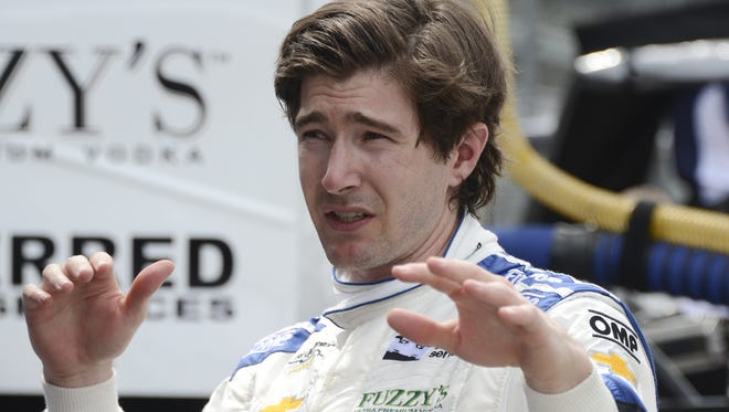 JR Hildebrand, one of IndyCar's best drivers not racing full time, has a side job. He's an adjunct lecturer with Stanford University's vehicular dynamics program.