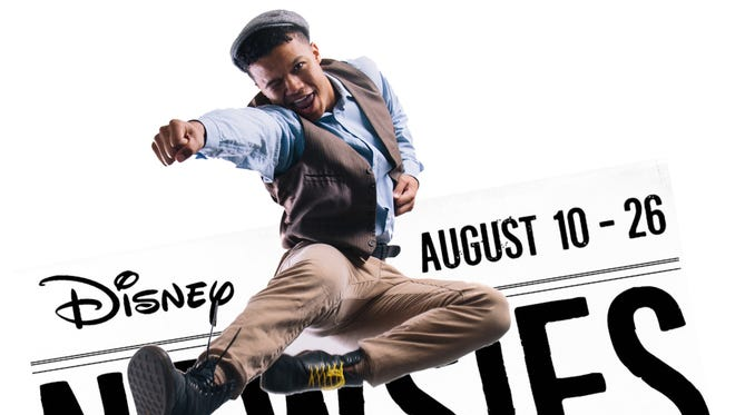 """""""Newsies"""" poster featuring Michael Sallee."""