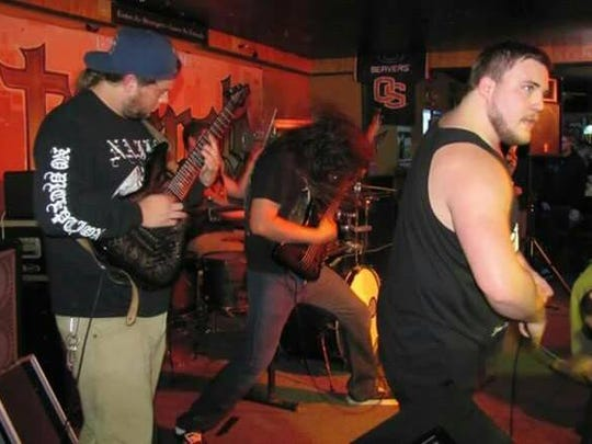 Submerged plays death metal. Catch the Dallas band at Chemawa Indian School March 26.