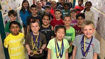 Students at Riverside Elementary School made the honor roll of a nationwide math contest recently.