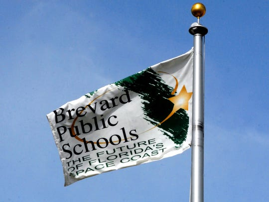 The flag over the Viera Brevard Public Schools complex.