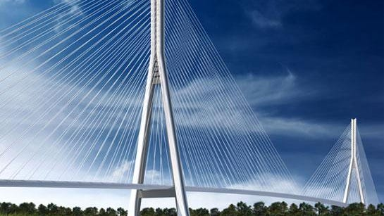 A rendering of the Gordie Howe International Bridge