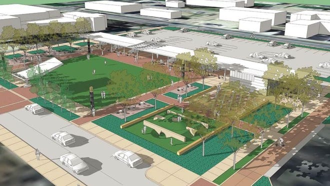 The new downtown Richmond park, part of the Stellar Communities project, will be named Jack Elstro Plaza.