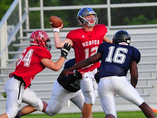 Grant Loy's final high school game was in the NCOFCA All-Star Classic.