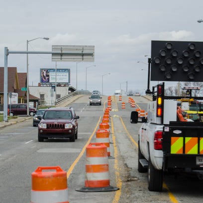 Barrels have been put in place for road work along