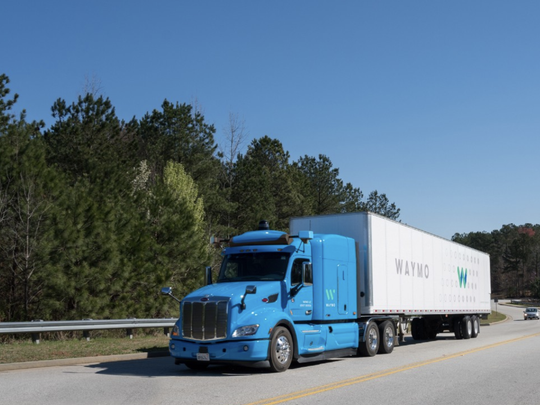 Waymo, Google's self-driving-vehicle company, is testing autonomous trucks in Atlanta.