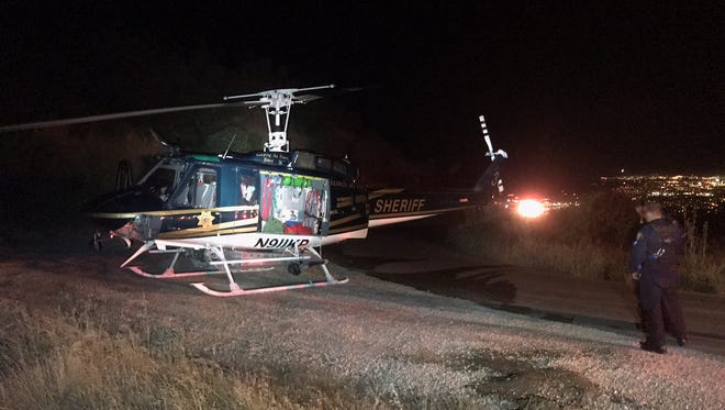 A helicopter, search-and-rescue team and several firefighting agencies responded to a fatal crash June 26 in the mountains north of Santa Barbara.