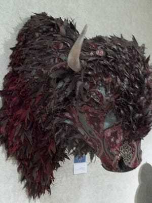 """Manitowoc's Rahr-West Art Museum hosts its Members and County Artist Show Aug. 27-Sept. 17. Pictured: Kelly Jelinek was the 2016 Artists' Choice and Viewers' Choice for three-dimensional art with """"Bison."""""""