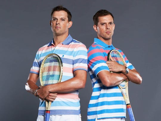 Tennis stars Mike and Bob Bryan of The Bryan Brothers
