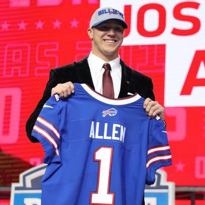Apr 26, 2018; Arlington, TX, USA; Josh Allen is selected