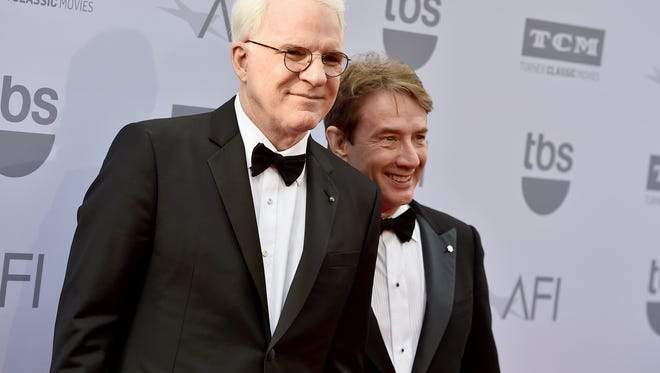 Steve Martin (left) and Martin Short will bring their show to the Murat Theatre on Saturday, Nov. 21, 2015.