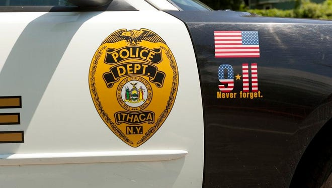 An Ithaca Police Department vehicle.