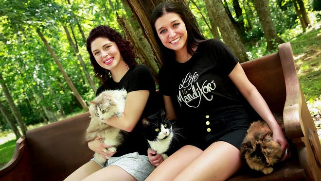 Bay Port High School grads Tori Occhino, left, and Mandi Sagal of Nashville-based Manditori will perform a benefit concert for Happily Ever After Animal Sanctuary on Thursday at the Meyer  Theatre in Green Bay.