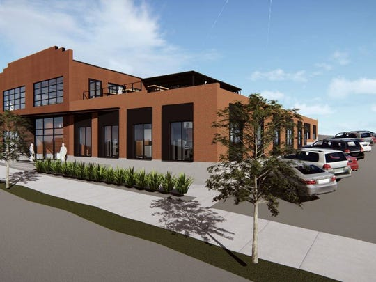 A rendering of the single-tenant office building planned at 29 Hermitage Ave.
