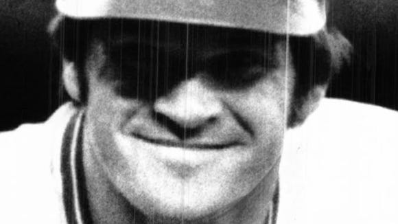 A 1975 photo of Pete Rose