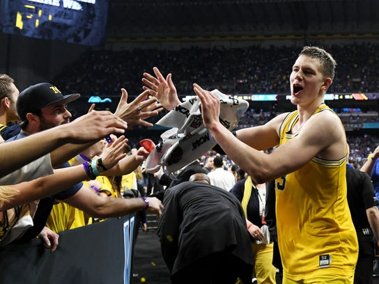 Michigan forward Moritz Wagner is projected to go in