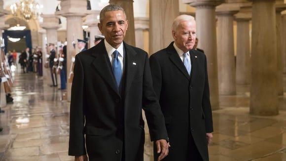 Former president Barack Obama and former vice president