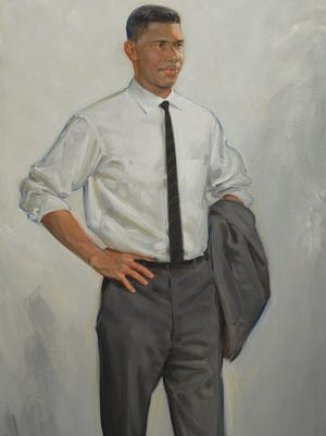 Medgar Evers, captured in this painting by Jason Bouldin, has been  recommended to President Obama to receive a Presidential Medal of Freedom.