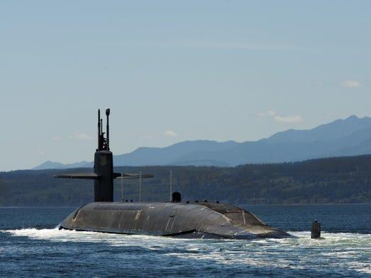 The USS Pennsylvania returns to Naval Base Kitsap-Bangor