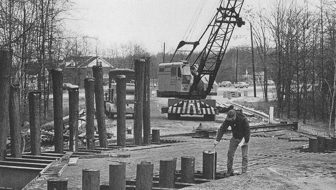 Route 80 construction, Denville 1969