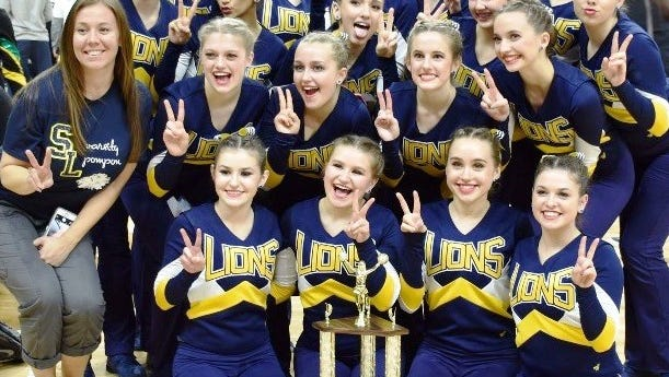 The South Lyon varsity took runner-up honors in the Mid-American Pom Division II competition Feb. 19 at MSU's Breslin Center.