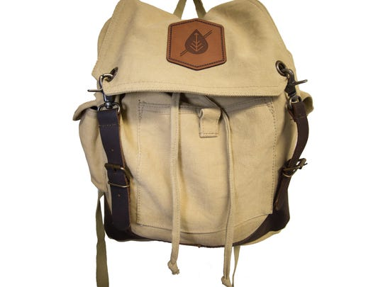 Made of heavyweight washed cotton canvas, this Parks Expedition Khaki Canvas Backpack has adjustable straps and plenty of pockets to store everything you need to explore, $60, at parkspreserve.com.