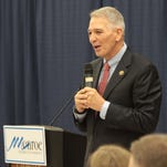 U.S. Rep. Ralph Abraham, R-Alto, recently addressed a Monroe Chamber of Commerce audience.