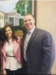 Savanah Nabors pictured with Sheriff Will Lewis.