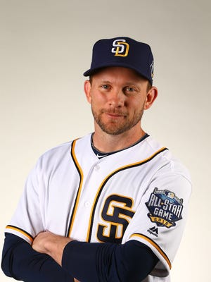 Feb 26, 2016: San Diego Padres manager Andy Green poses for a portrait during photo day at Peoria Stadium.