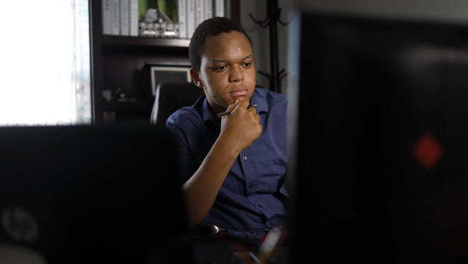 Jonathan Kalala, a graduate of Groveport Madison High School, was chosen for Bank of America's summer Student Leaders program, but because of the pandemic, his paid internship with the local Habitat for Humanity program was virtual. He participated in meetings and did online research.