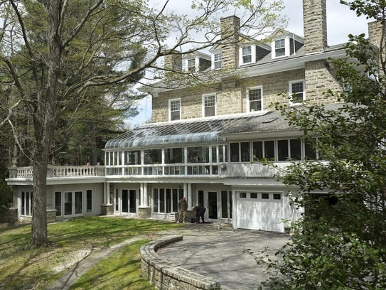 This is the rear of the historic Robert Comey house,
